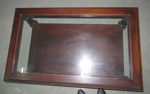 Mesa Ratona con vidrio excelente calidad madera maciza !!!!