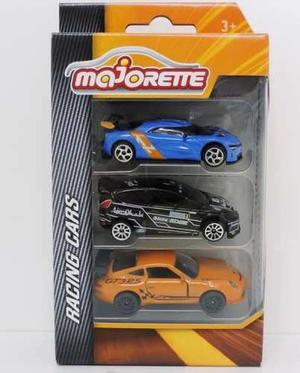 Majorette Pack X3 Autos Racing Cars Escala 1:66 Nuev Bigshop
