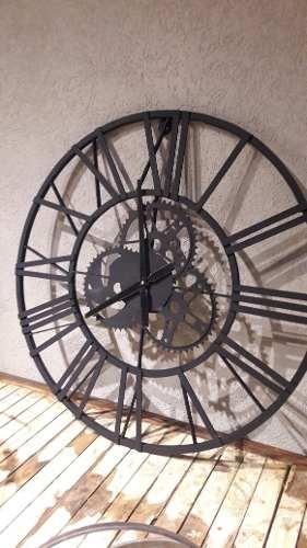 Reloj Engranajes Pared Hierro Grande De 70 Y 90 Cm