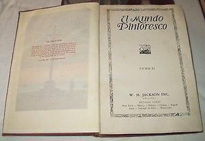 """Libros Colección de 9 Tomos """"El Mundo Pintoresco"""" son"""