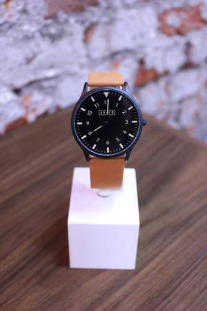 Reloj Ábaco Edison - Malla Gamuza Marrón
