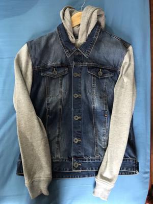 Aeroflot campera de Jeans mangas y capucha de algodón talle