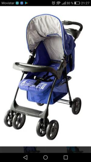 Coche travel system london azul