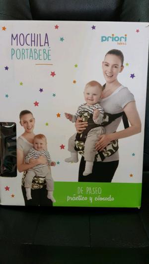Mochila porta bebé como nueva marca Priori