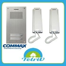 Portero Commax 2 Pulsadores Frente 2um + 2 Tel Ss + Fute