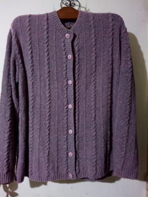 Saco de lana gruesa para mujer