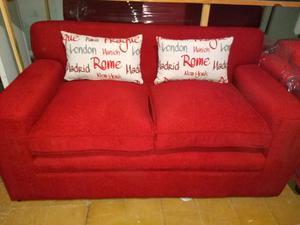 Sofa de living 2 cuerpos chenille