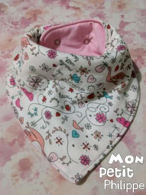 Babero bandana tricapa