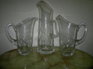 Antiguas Jarras de cristal