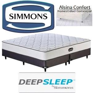 Colchon y sommier Simmons 190x140 DeepSleep