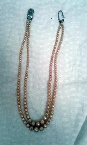 Collar Antiguo Perlas Fantasia Broche Art Deco