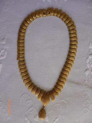 Collar De Metal Dorado Fantasia Vintage Monet