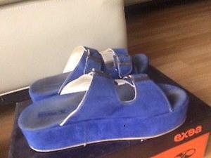 sandalias azules con plataforma n 39