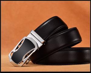 Cinturon De Cuero Autentico Destiny Para Hombre Negro