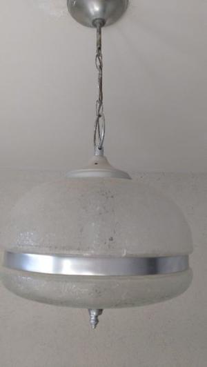 Lampara De Colgar De Vidrio cilíndrica, 32 cm de diametro