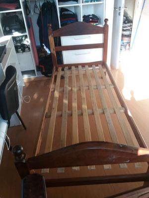 Vendo cama 1 plaza de algarrobo