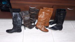 4 pares de botas de cuero