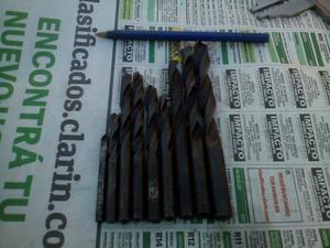 Lote 9 Mechas Acero Rápido Para Metal De 6 Mm A 1/2 Taladro