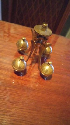 Antiguo pendulo de broce para reloj a torsión alemán kundo