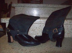 Botas de cuero y gamuza !!Impecables