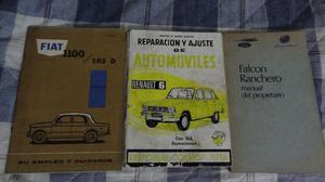 MANUAL DE USUARIO FIAT , FORD FALCON, RENAULT 6,