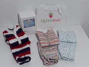 Ajuar #2 Nacimiento. Conjunto Bebe. Batita Y Ranita En Caja