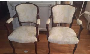 Par de sillones estilo francés Luis XV