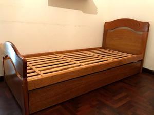 Vendo cama marinera 1 plaza, de cedro.