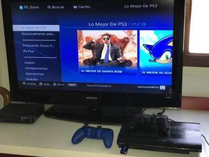 Play Station 3 Slim Psgb +9 Juegos Físicos Y 4 Digital