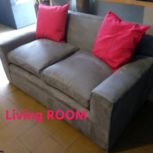 Sofa de living 2 cuerpos gamuza anti manchas