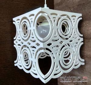 Lampara Colgante en PVC Diseños Modernos apta leds 26x26 cm