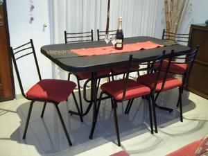 Mesa de 1.50 y 6 sillas !! Llevo gratis a domicilio !! ♥