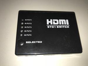 Swich HDMI 5 Bocas con control remoto
