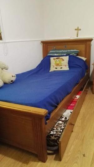 Vendo cama plaza y media