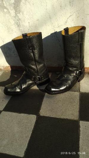 """botas de cuero motoqueras marca """"charro"""" original punta"""