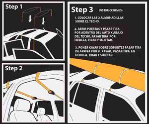 Porta Equipaje Para Auto Kayak/ Tabla Surf / Esquies