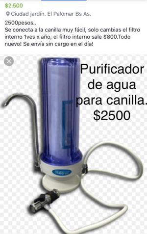 Purificador de agua para canilla
