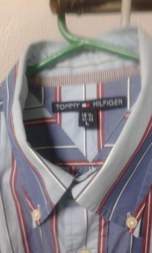 "TOMMY HILFIGER-CAMISA RAYADA TALLE ""L""NUEVA!!"
