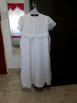 Vestido de comunion talle 14 con bolsita y zapatos blancos