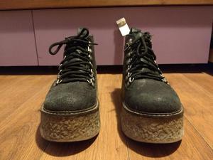 Botas acordonadas negras TALLE 37