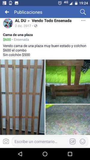 Cama una plaza $500
