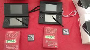 Nintendo Ds Lite + R4 + Microsd 2gb + Estuche