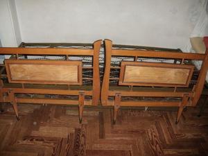 cama con carrito de estilo fierro macizo y madera maciza