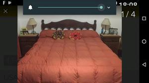 juego dormitorio de algarrobo impecable