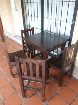 Juego de comedor mesa extensible y 4 sillas
