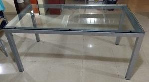 Vendo mesa de vidrio, en excelente estado, barata $