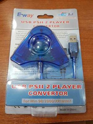 Adaptador 2 Joystick Play Station 2 Ps2 A Usb 2.0 Pc Ps3