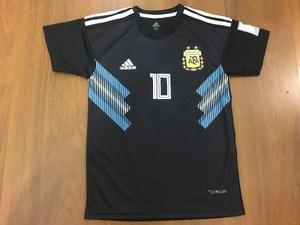 4152b1b5fa Camiseta argentina negra 10 messi niño mundial rusia