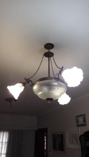 LAMPARA COLGANTE TECHO BRONCE ANTIGUO