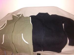 Vendo chaleco talle L y saco color negro talle 3